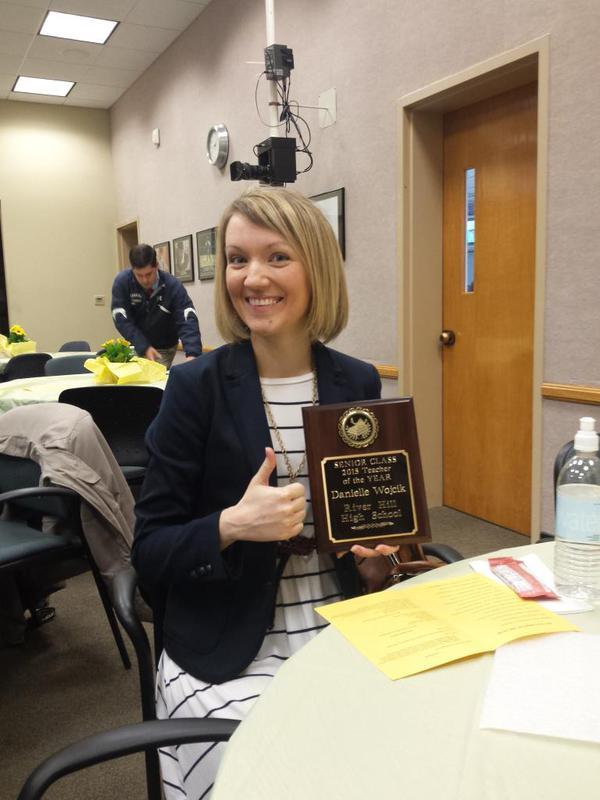 Congrats again to Mrs. Wojcik, senior class teacher of the year!