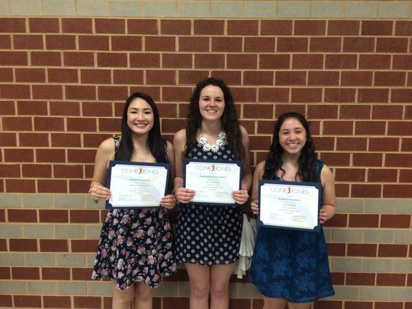 Congrats to Sarah Blau, Ali Hovet, & Katherine Quiroz for being recognized at Conexiones Award program!
